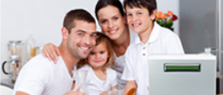 Happy Family with Water Ionizer