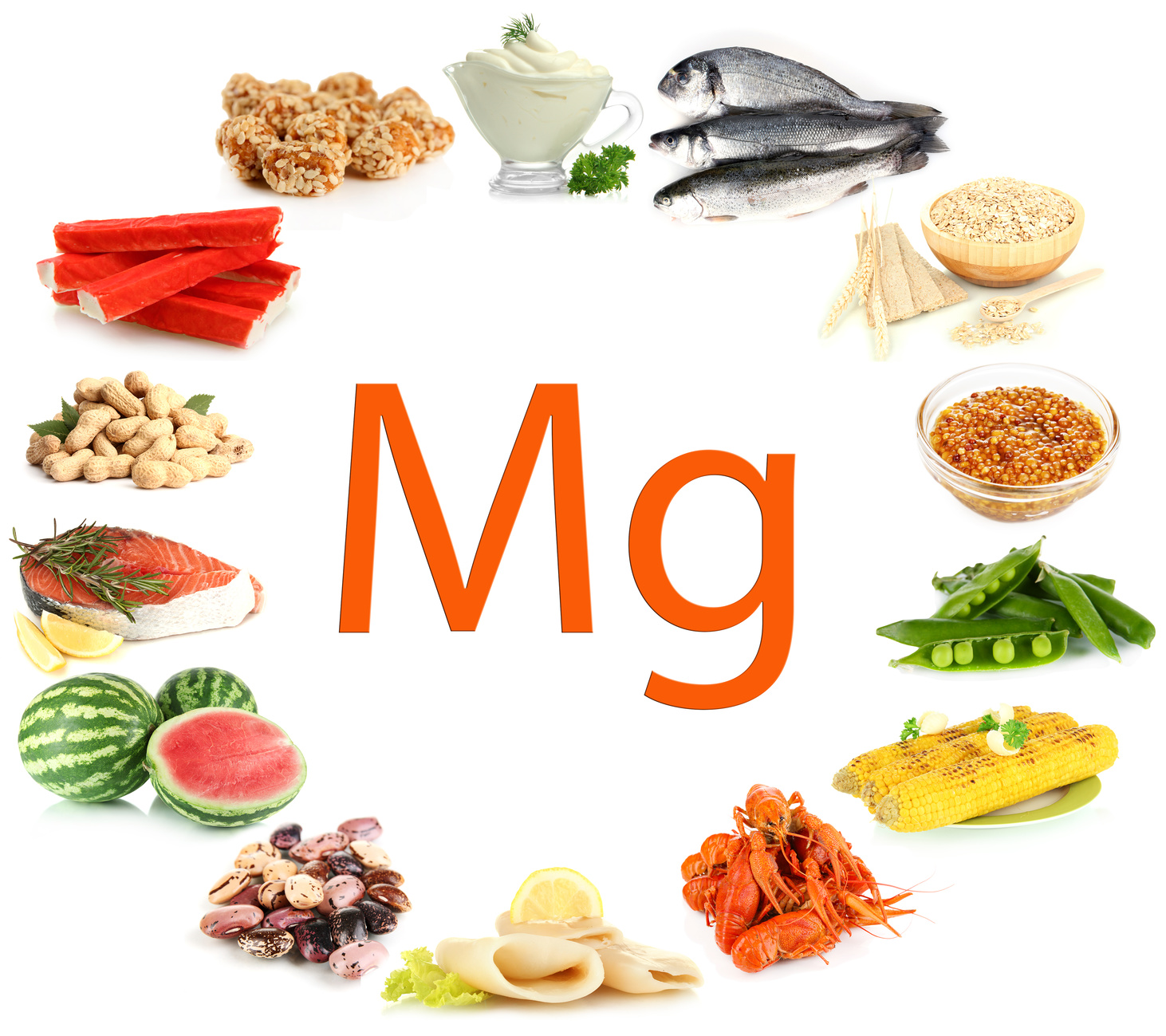 Mg is found in all these healthy food and Tyent alkaline water!