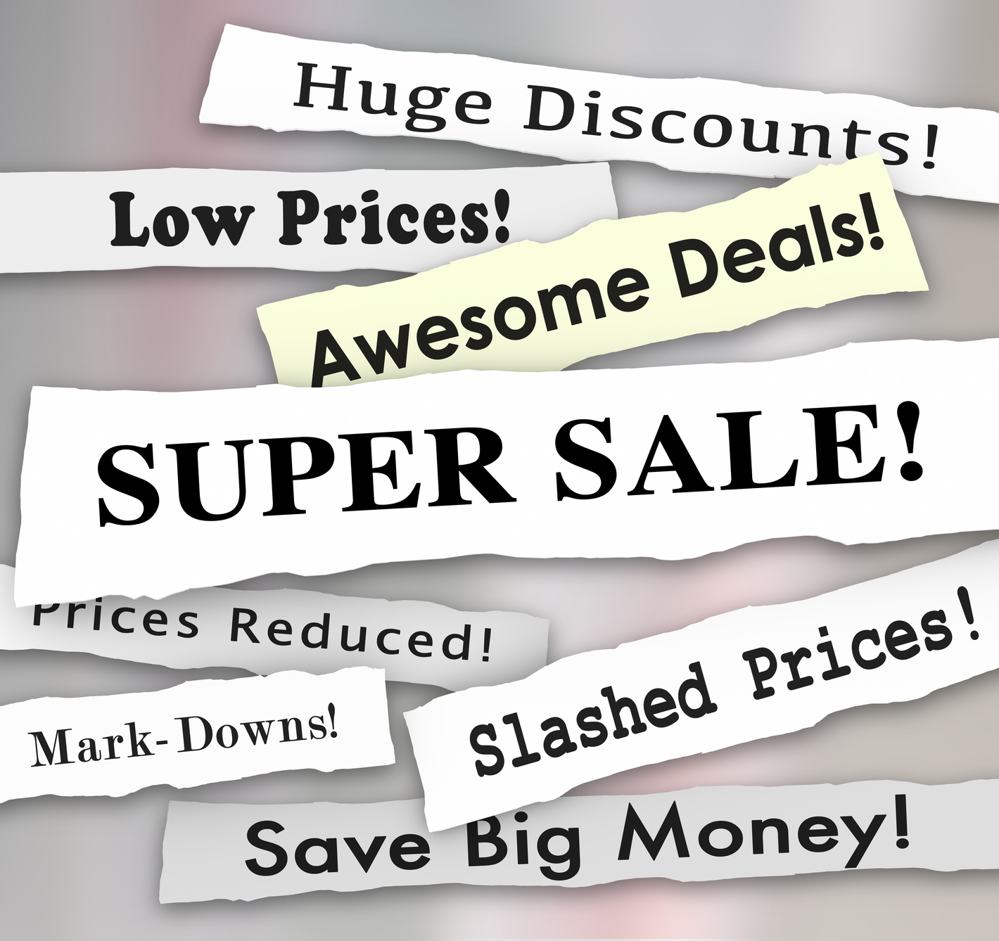 Super Sale Prices Reduced Big Savines Discounts Newspaper Flyer
