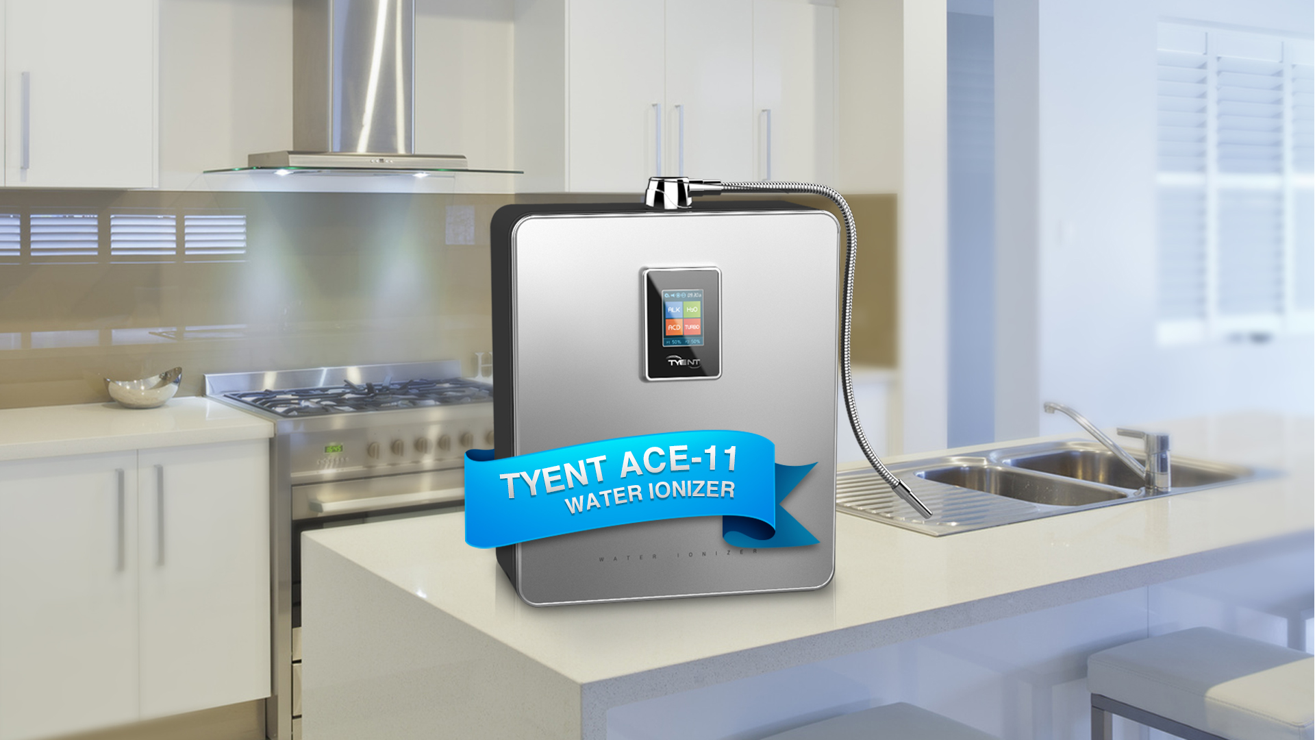 The Tyent Ace-11 water ionizer. Hydrogen water has never looked so good.