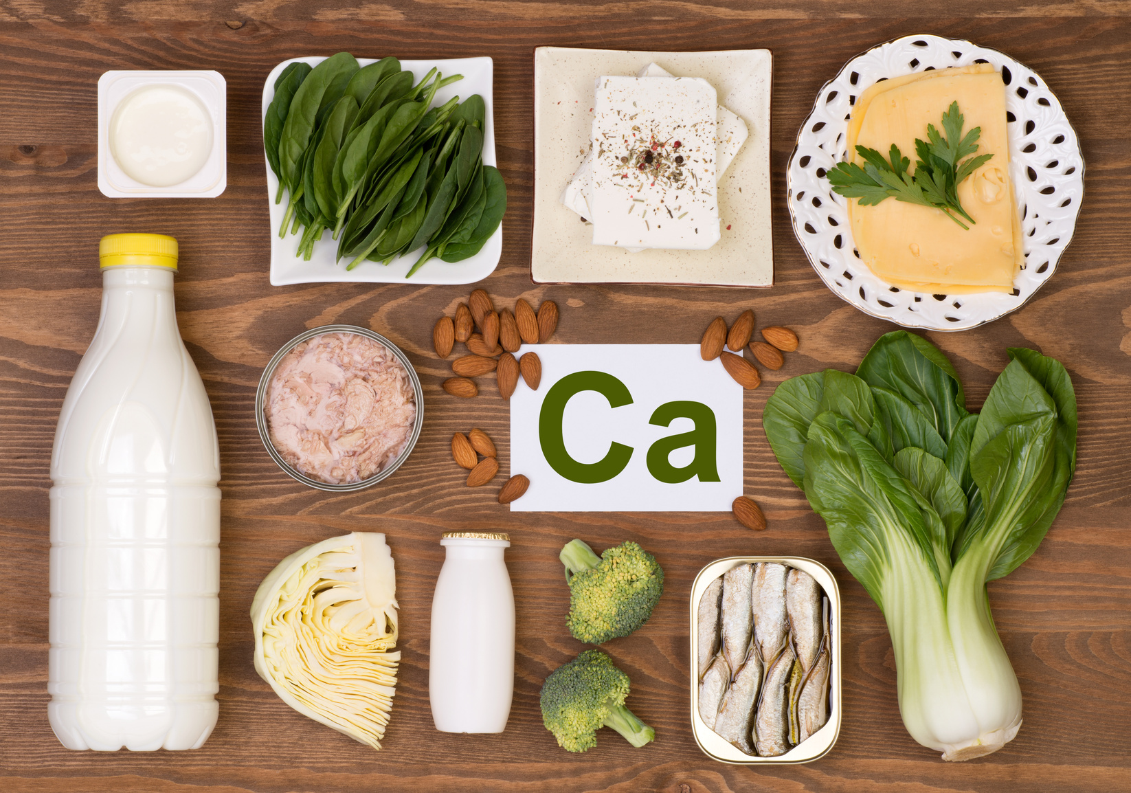 Food containing calcium
