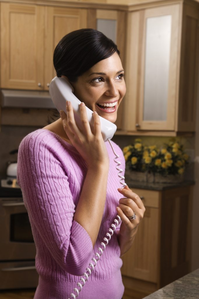 Woman Talking on Phone