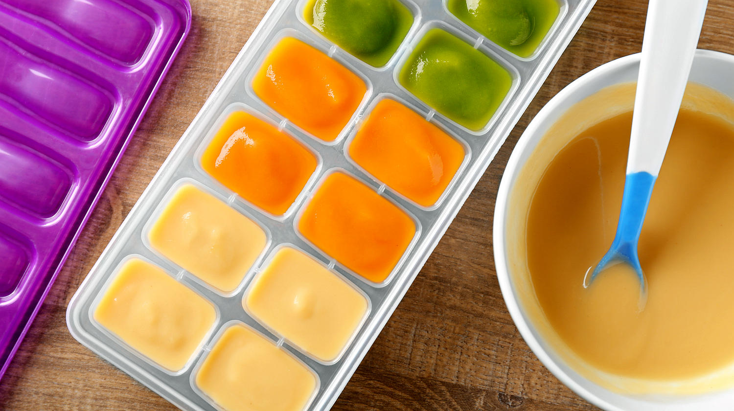 Feature | Container bowl baby food on table | Brilliant Ice Cube Tray Hacks You Can Do At Home