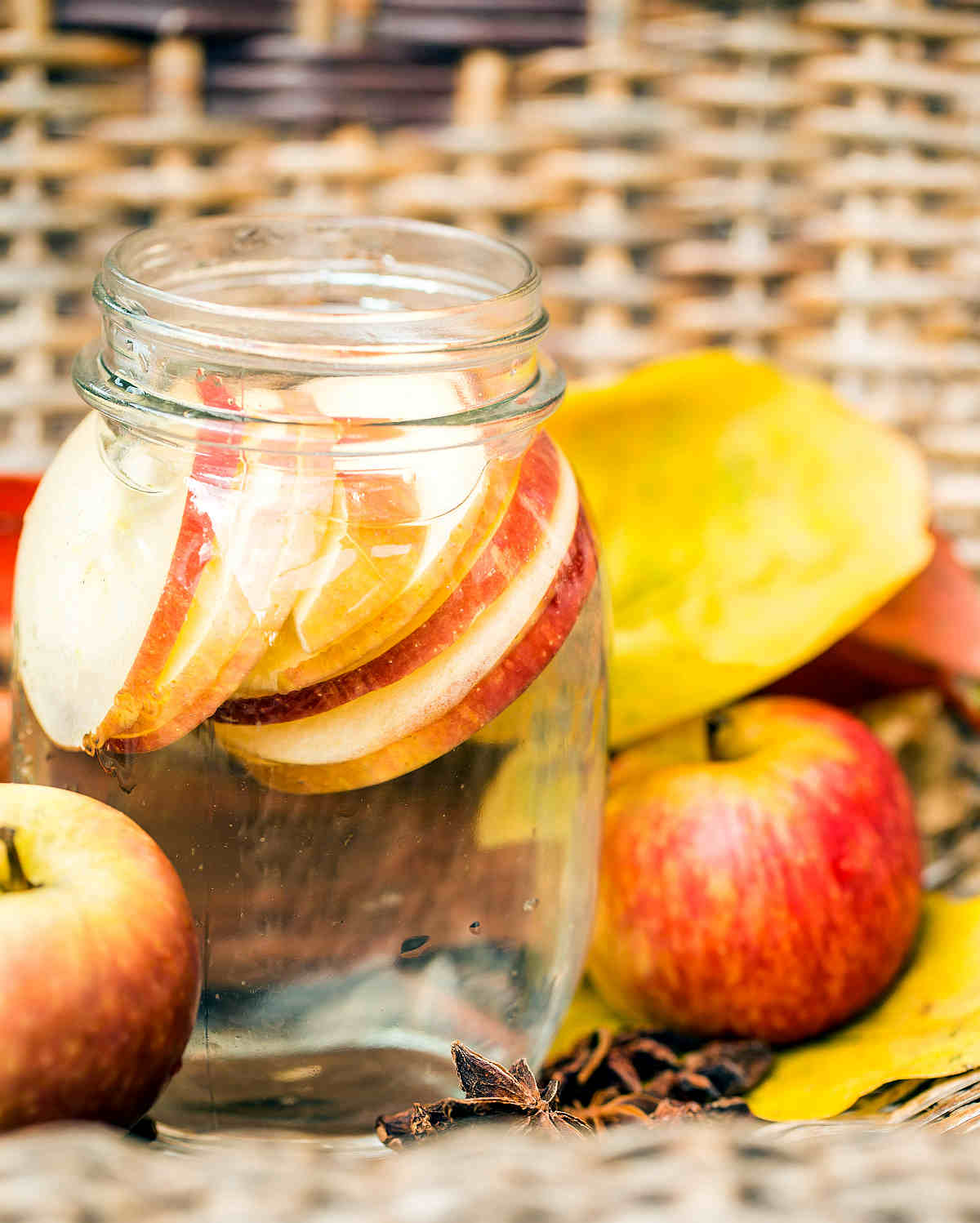 Detox water Apples autumn composition leaves | Most Nutritious Foods to Add to Your Diet