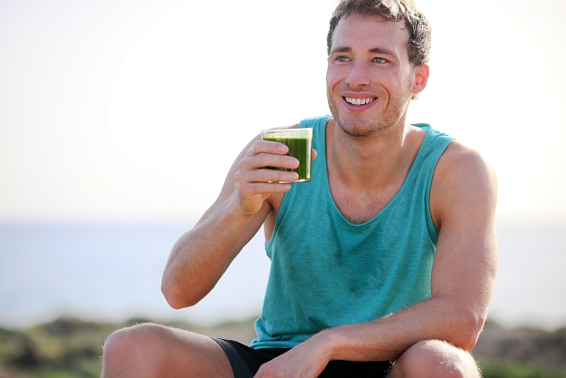 Handsome man drinking green juice | Healthy Juice Recipes You Should Try
