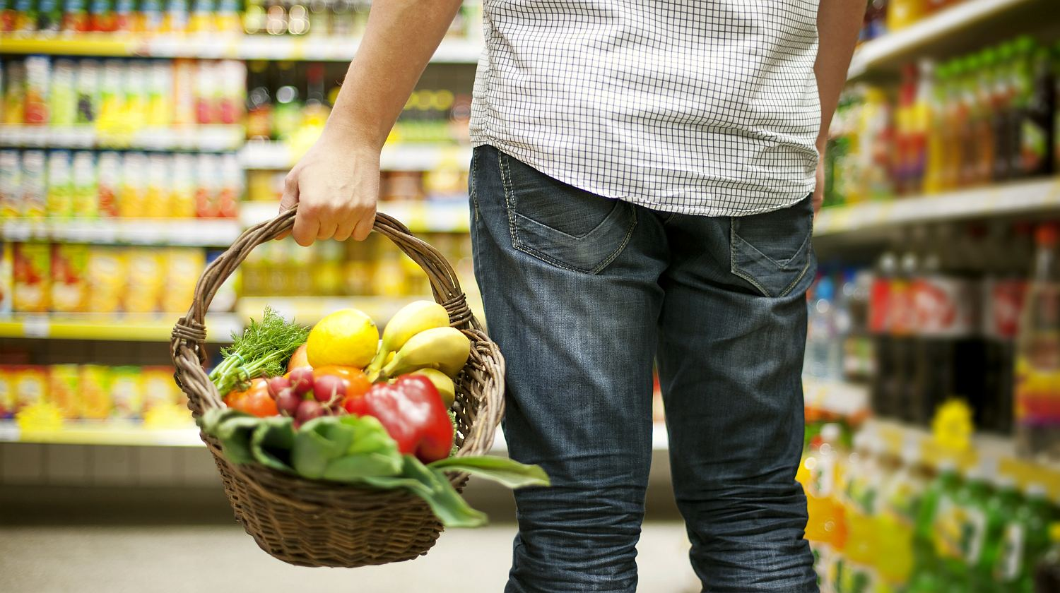 Feature | Man holding healthy foods in a basket | Healthiest Foods To Eat