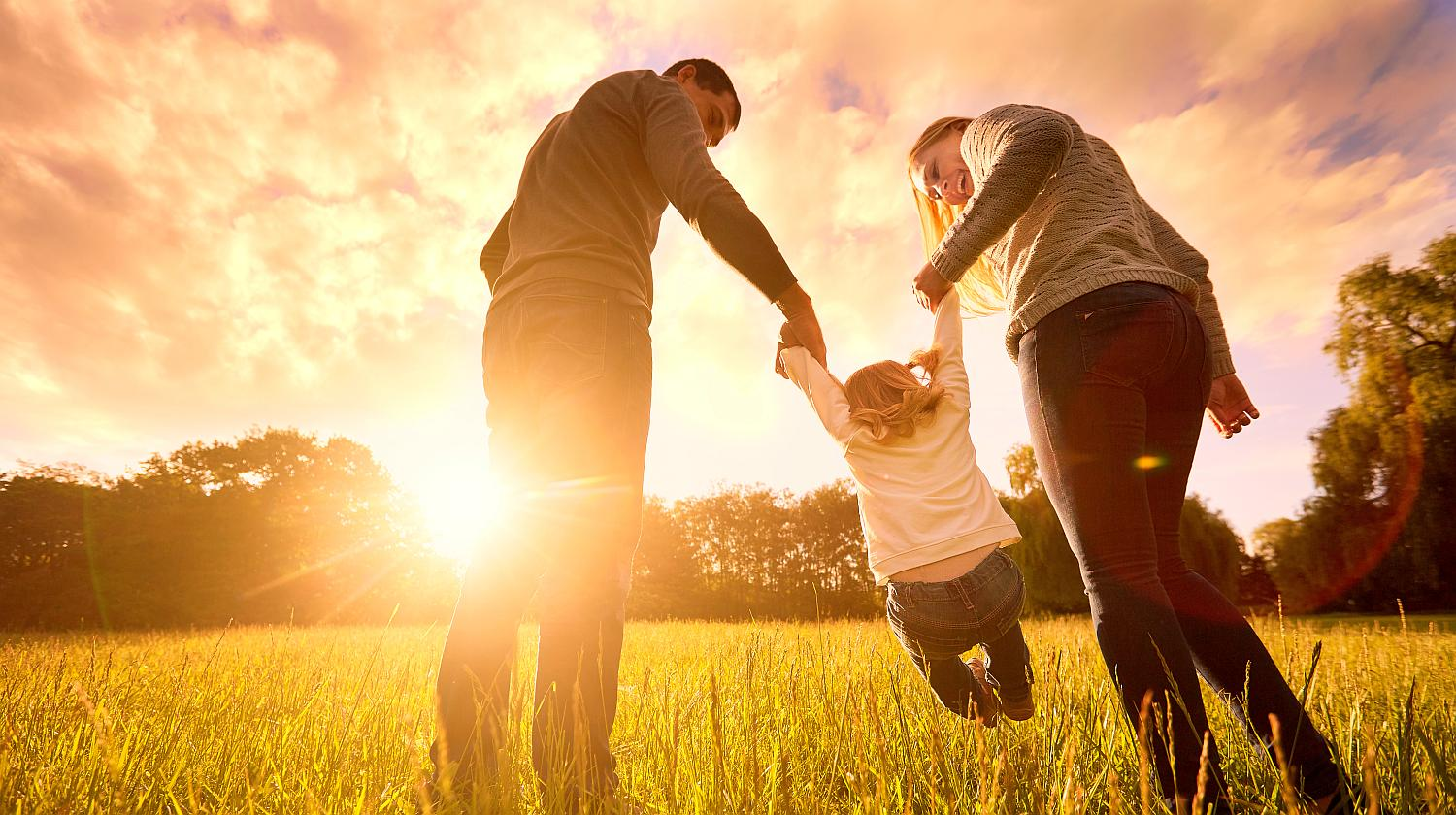 Feature | Happy family enjoying sunset | Boost Your Immune System By Drinking Water