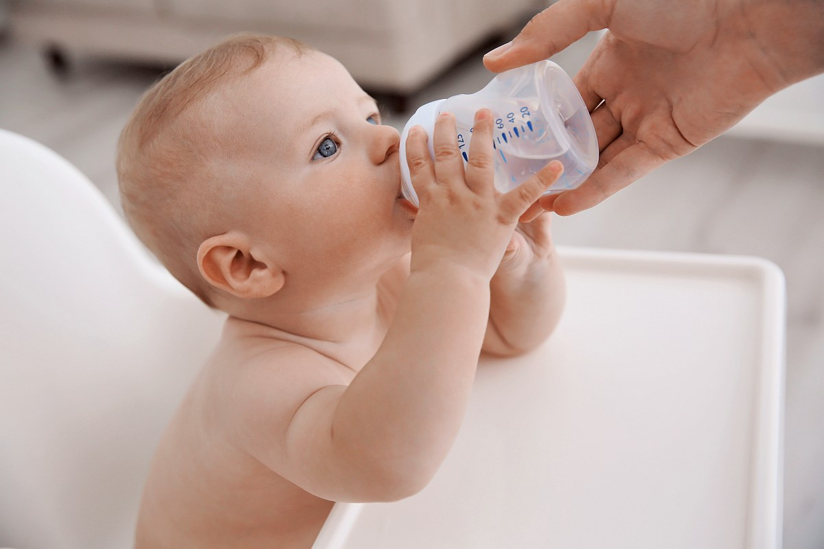 Baby drinking water | When to Give a Baby Water