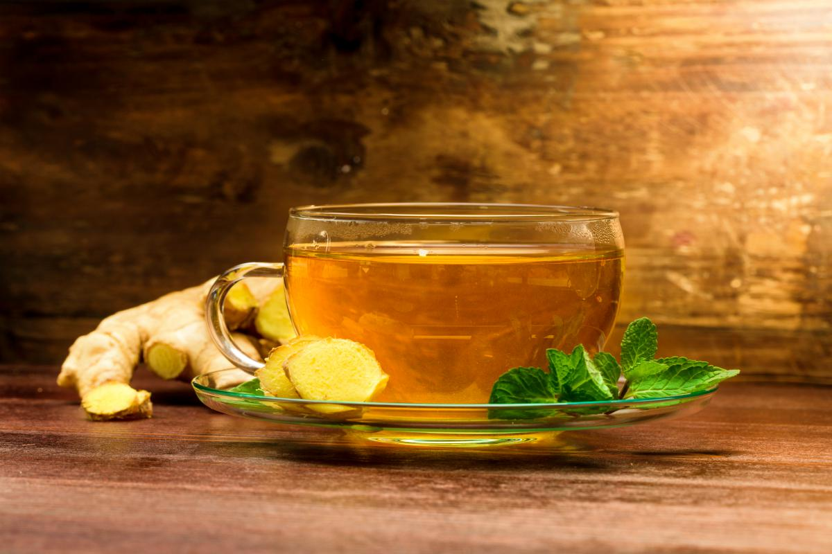 Freshly brewed ginger tea with mint | Ways To Promote Better Bowel Movements