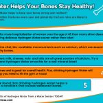 Hydrogen Water and Bone Health