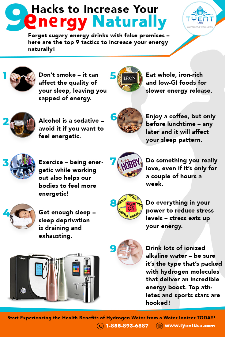 9 Hacks to Increase Your Energy Naturally