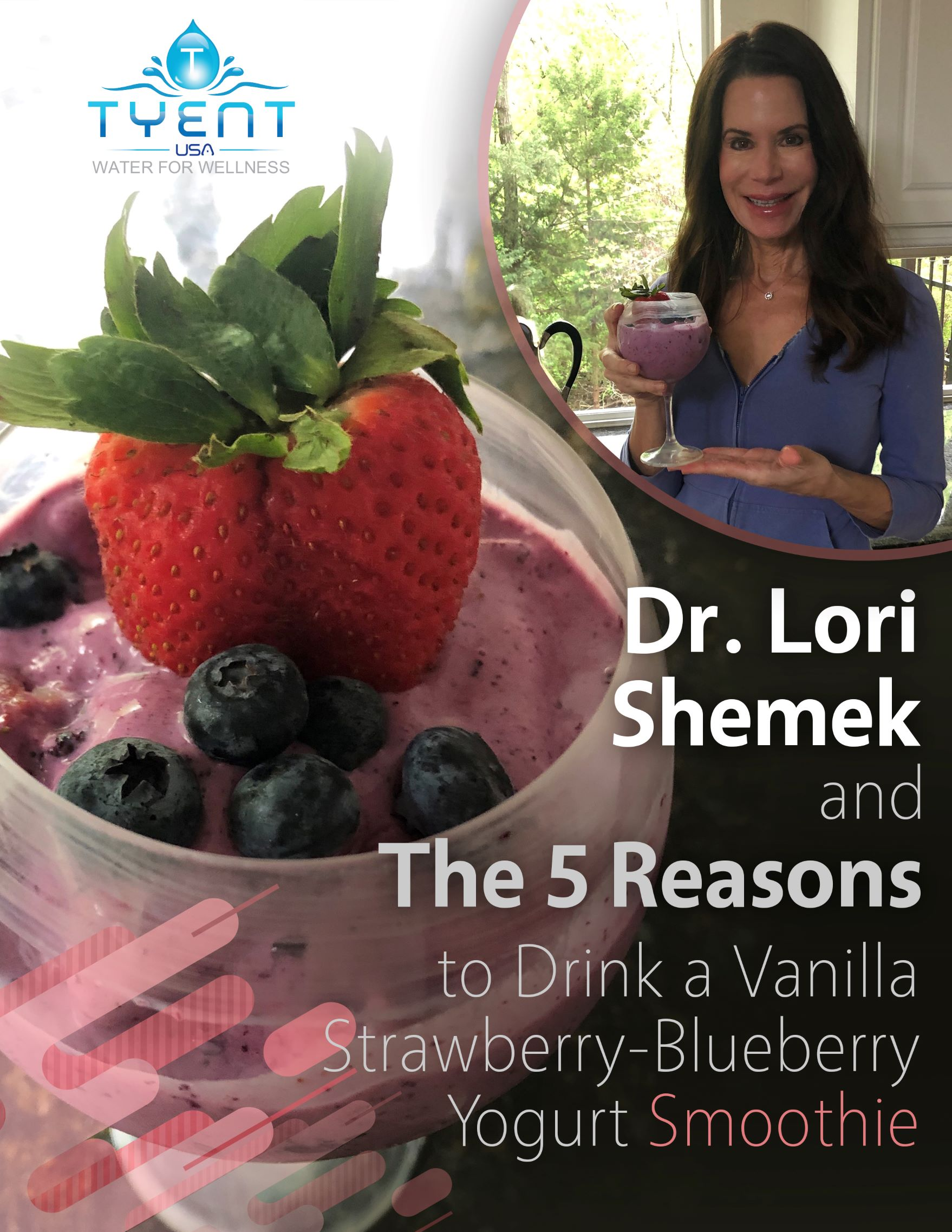 5 reasons to drink a vanilla strawberry blueberry yogurt smoothie