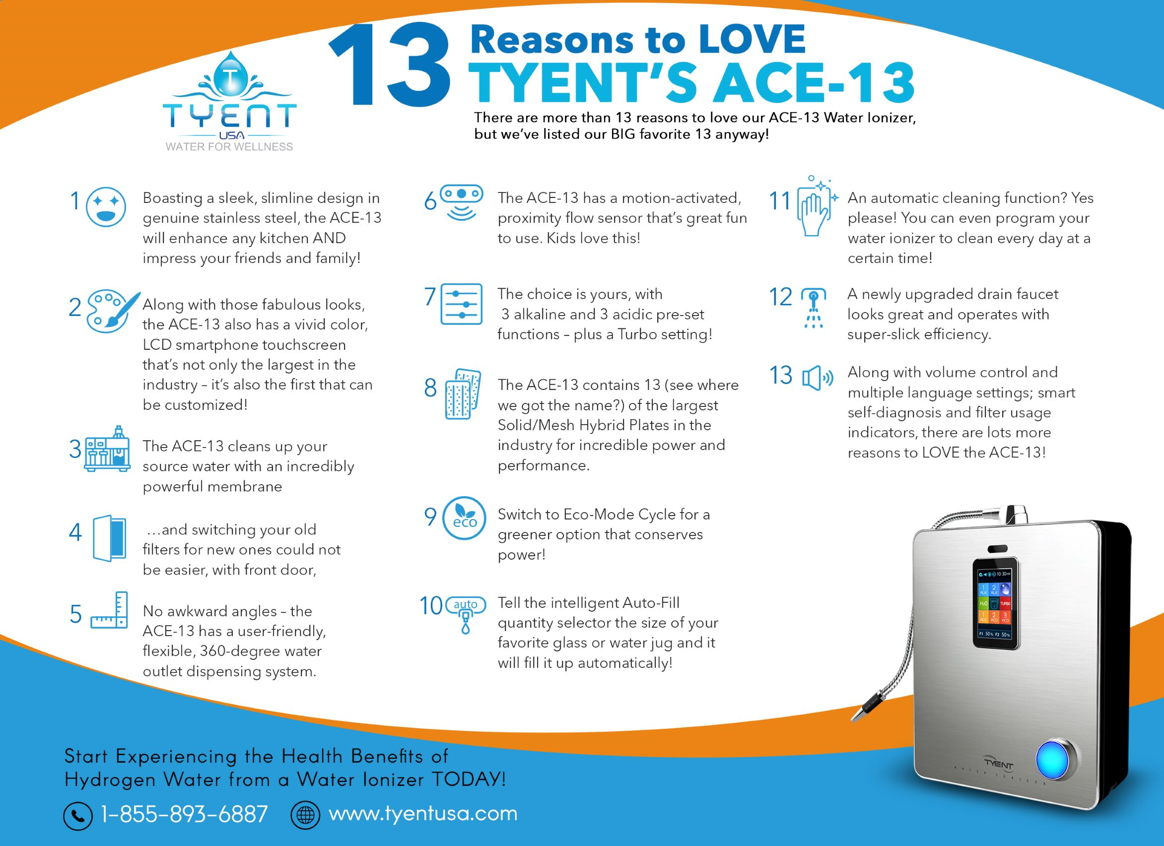 13 Reasons to Love Tyent's ACE-13 Infographic