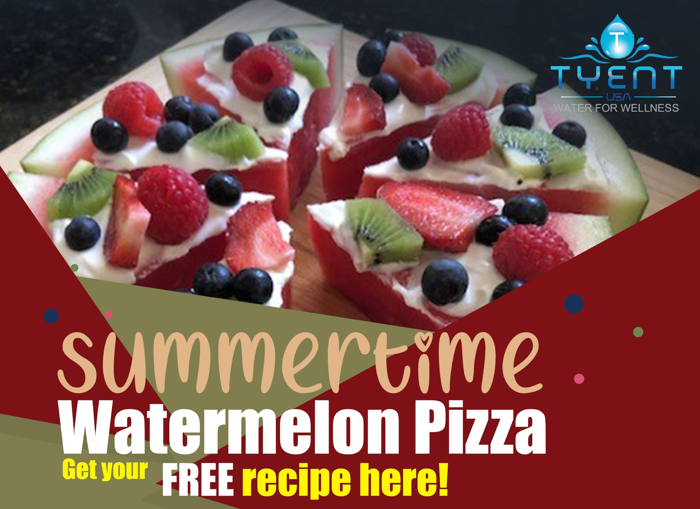 Summertime Watermelon Pizza