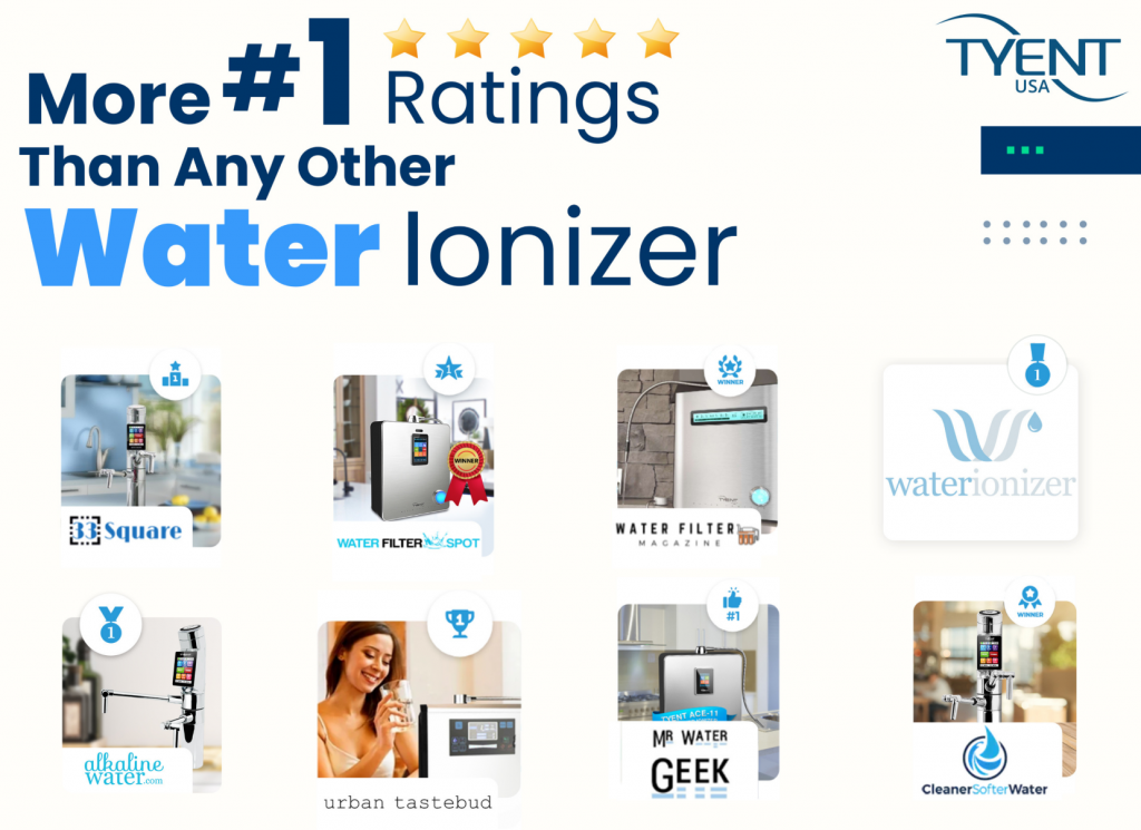 More #1 Ratings Than Any Other Water Ionizer