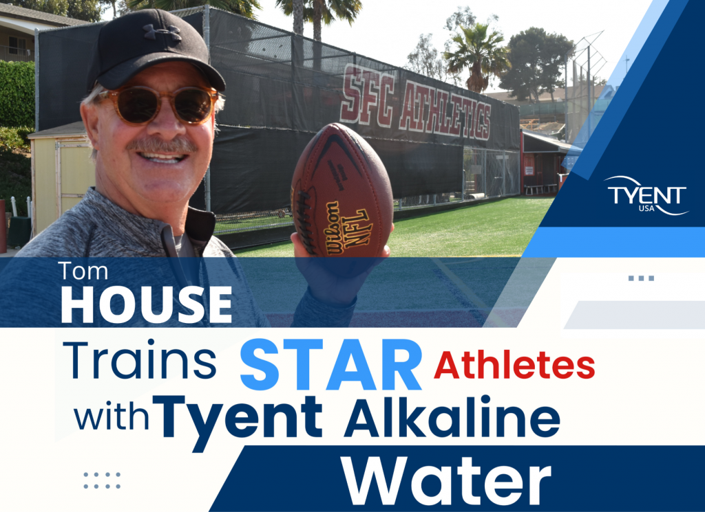 Tom House Trains Stars with Tyent Alkaline Water