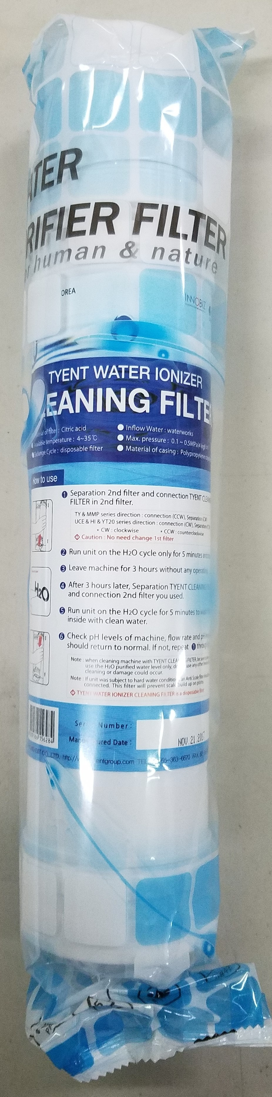 HI/UCE Series Ionizer Cleaning Filter