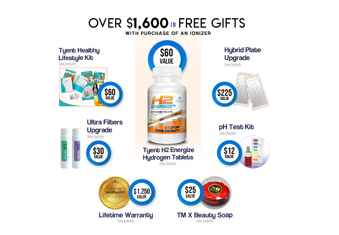 Over $1600 in free gifts