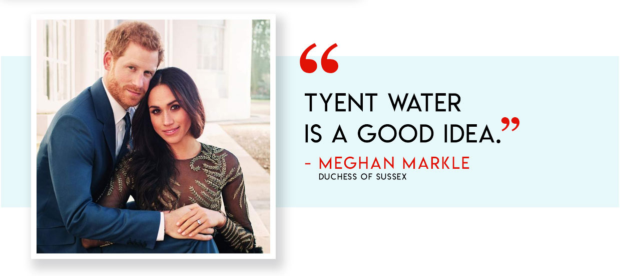 Meghan Markle Duchess of Sussex on Tyent Water