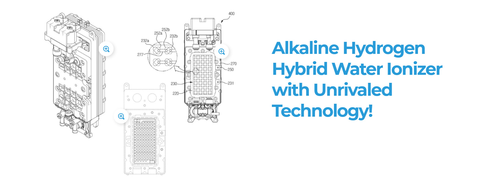 Alkaline Hydrogen Hybrid Water Ionizer with Unrivaled Technology!