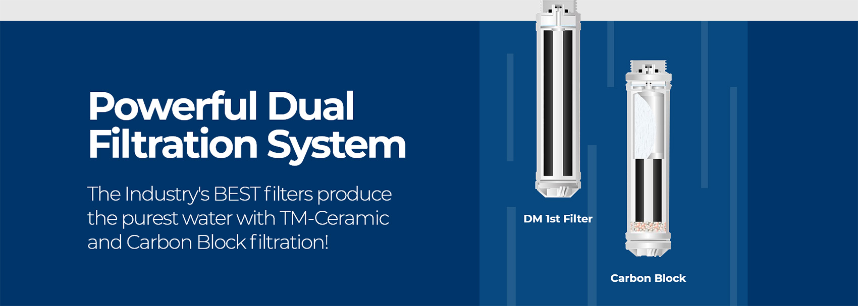 Powerful Dual Filtration System!