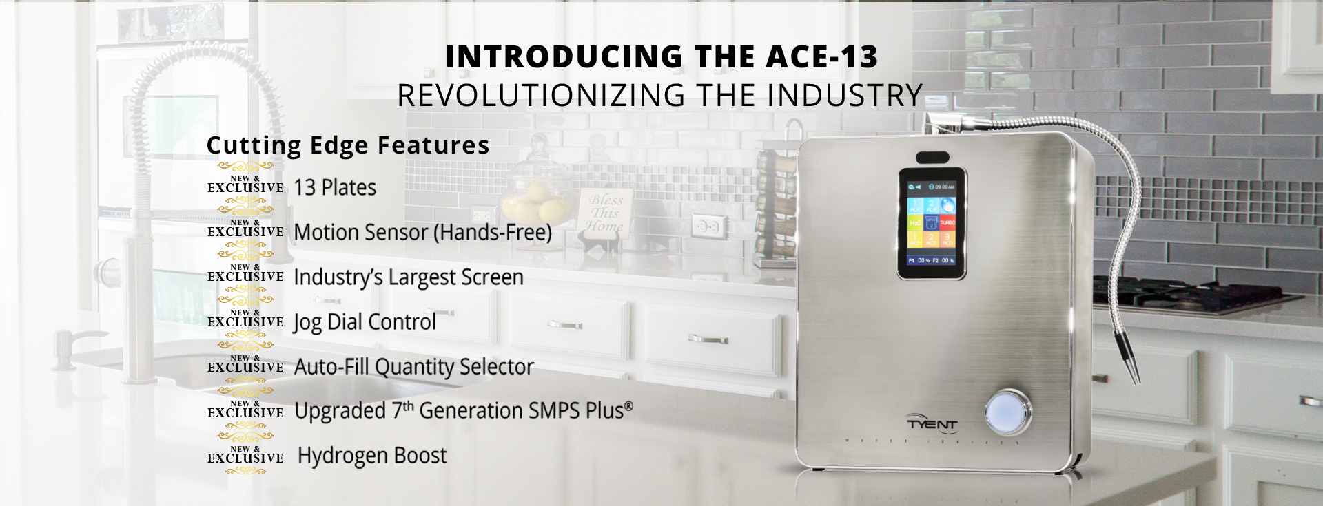 Introducing the Tyent ACE-13 Water Ionizer