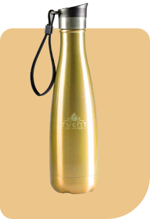 Tyent Drinkware Gold
